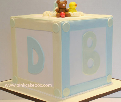 baby blocks baby shower cake