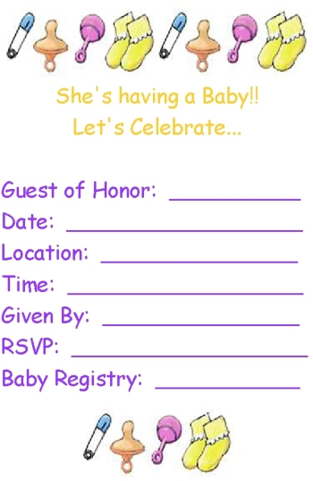 Free Printable Baby Shower Invitations - Print at home baby shower invitation templates